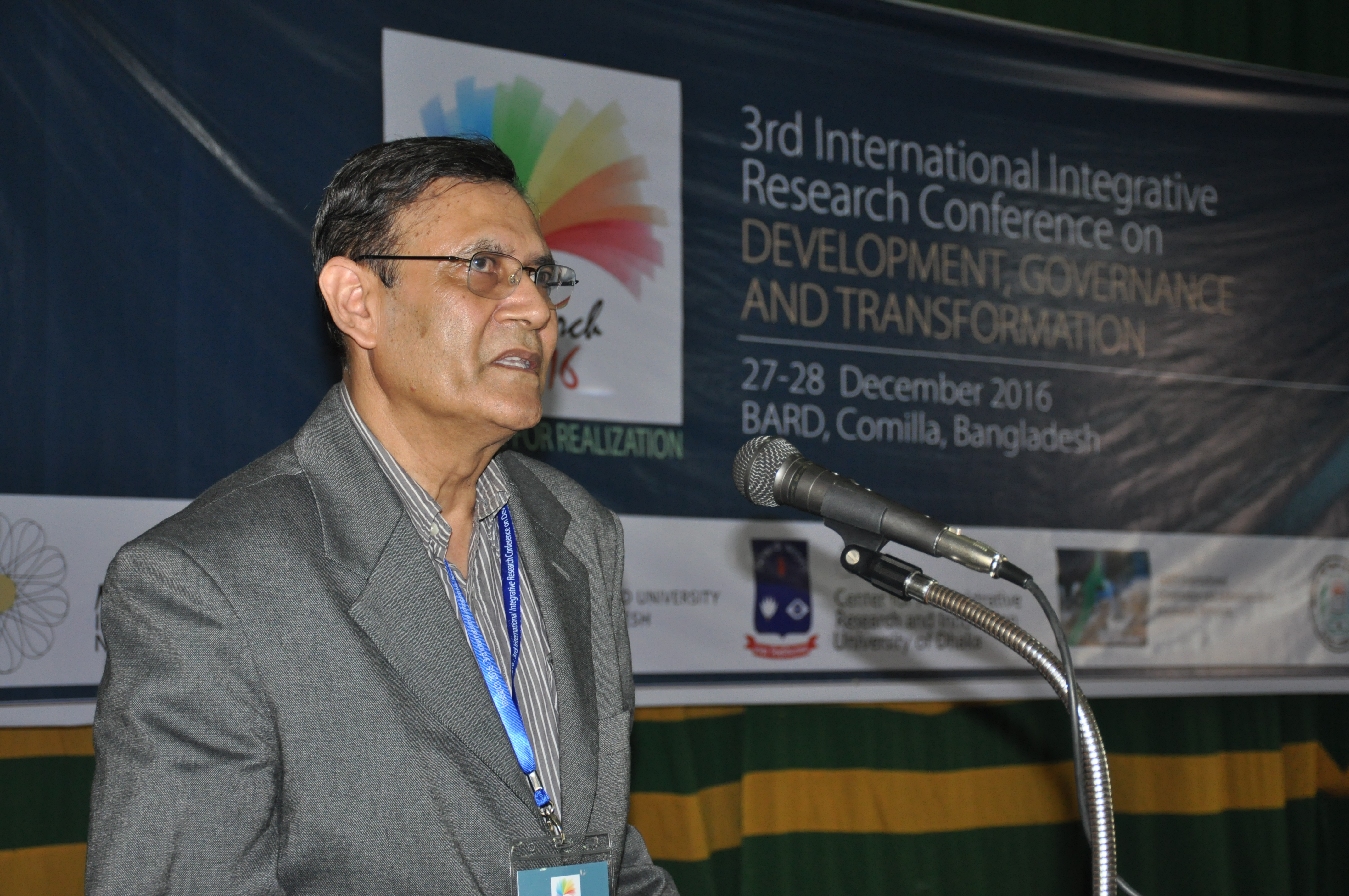 Prof. Ahmed Shafiqul Haque, Keynote Speaker 2016,